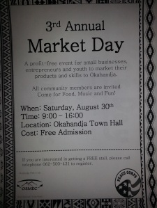 Market Day flyer by Sarah