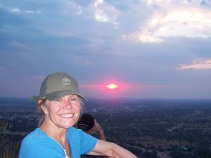 Barbara w sunset