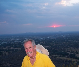 Steve w sunset