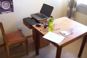 Nurse Home Steve's workstation