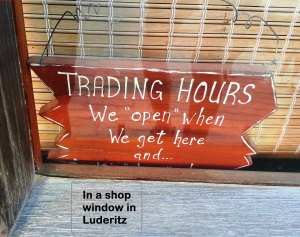 In a Luderitz Shop Window