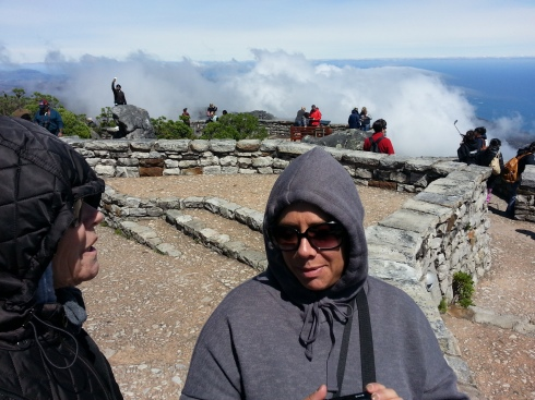 Angels in the clouds of Cape Town's Table Mountain. (Barbara and Caroline)