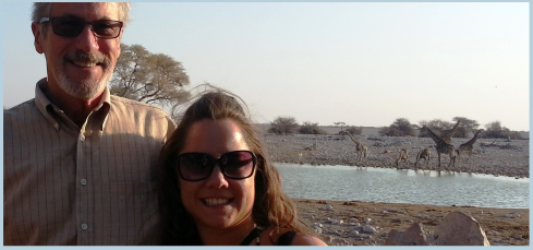 Steve and Caroline at a water hole...
