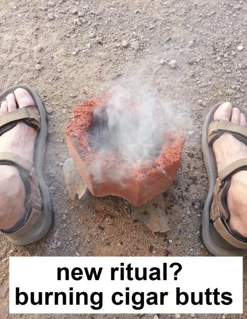 cigar butt burning