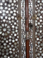 Incredible craftsmanship in tortoise and mother of pearl. And it wasn't on just one door!