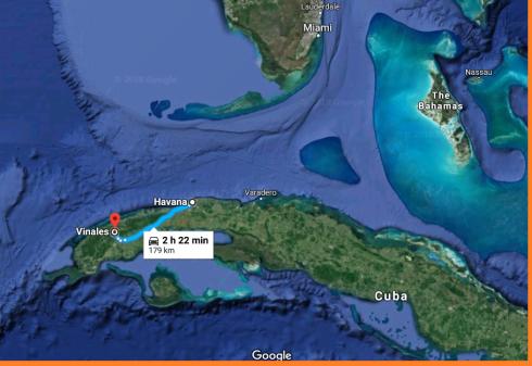 Cuba satellite map